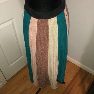 Anthropologie Ottod' Ame long multicolor skirt 8